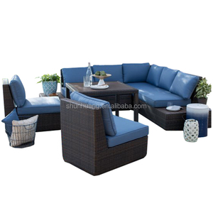 all weather wicker easy cleaning backyard rattan sofa