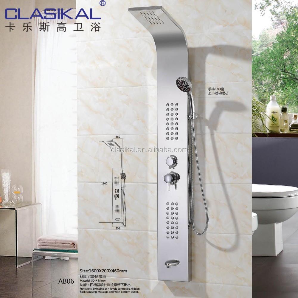 Ab06 Luxury Bathroom Rainfall Hydro Massage Shower Panel Stainless ...
