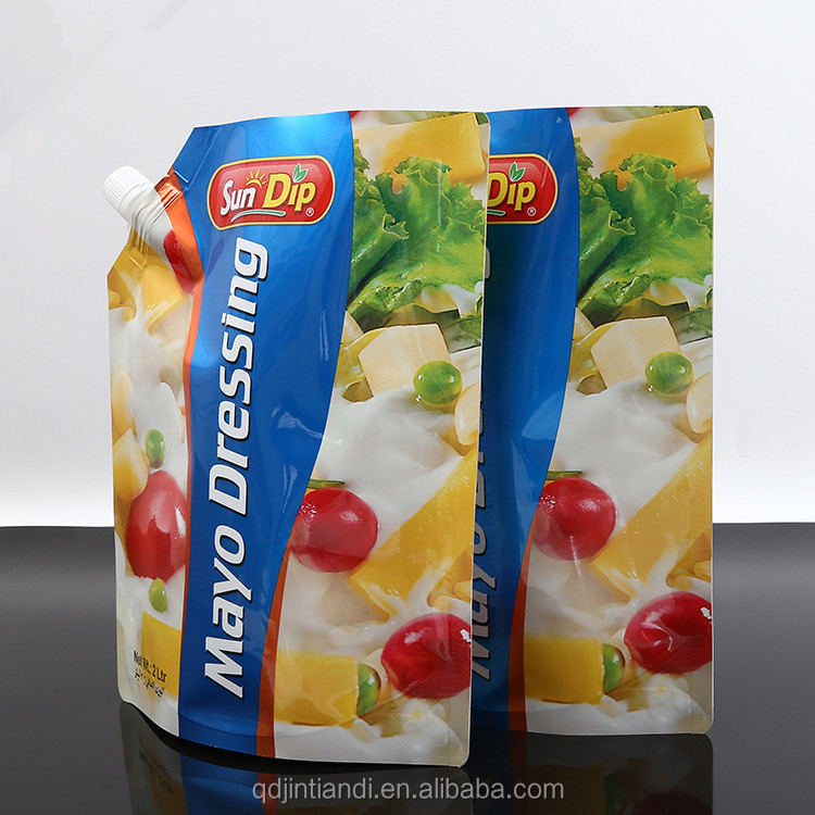 wholesale custom recycled high quality aseptic liquid drink spout pouch