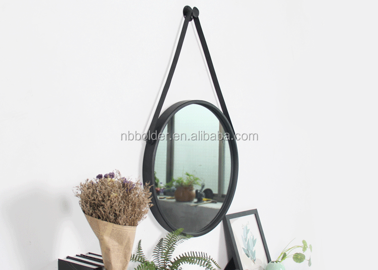 Spiegel Zwart Metaal : Groothandel decoratieve zwarte metalen ronde spiegel met faux