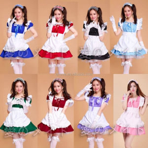 Lolita Princess Apron Dress Maid Outfits Meidofuku Uniform Cosplay Costume BWG14978