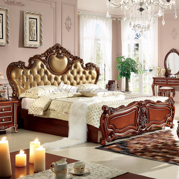 Antique French Style Furniture,royal Furniture Antique Gold Bedroom Sets
