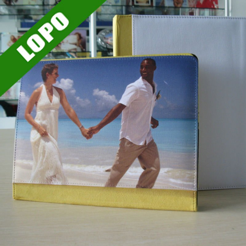 Sublimation Leather Cases For ipad2/3( Yellow Color)