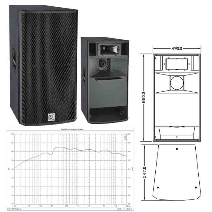 Cvr Pro Audio 15 Inch Woofer Three-way Bi-amp Speaker Cabinet ...