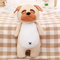 Best made toys custom dog stuffed animals wholesale cute smile small eyes soft plush dog