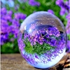 80mm clear glass sphere folk art crystal ball