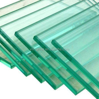 Clear Flat 12mm Thick Tempered Glass Building Glass