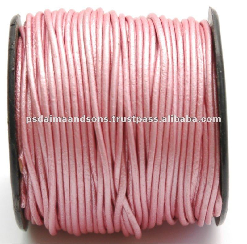 Multi Color Round Leather Cord