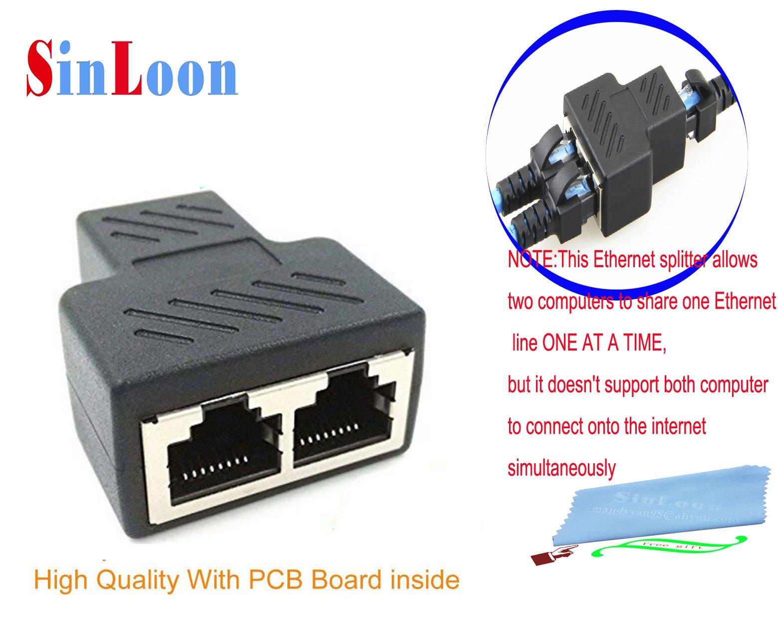 Industrial Electrical Ethernet Cables 1 to 2 Port Ethernet Socket ...