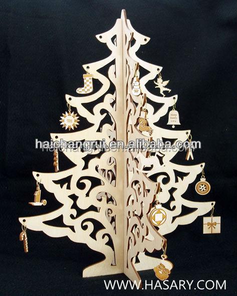 D ahşap ağaç yılbaşı tablo deco lazer kesim hizmeti