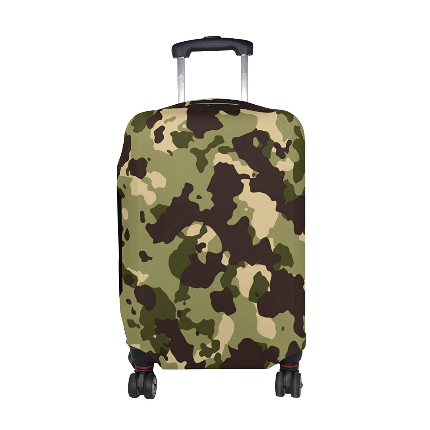 d9cf9604004a Get Quotations · Military Camo Camouflage Pattern Print Travel Luggage  Protector Baggage Suitcase Cover Fits 18-20 Inch
