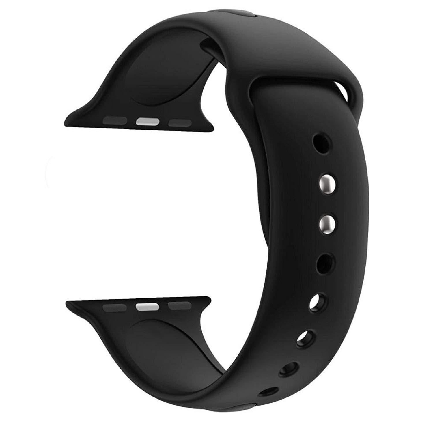 Owill Fashion Sports Soft Silicone Replacement Sports Band Watch Strap For Apple Watch Series 3 42MM, Wrist Circumference: 140MM-185MM (Black)
