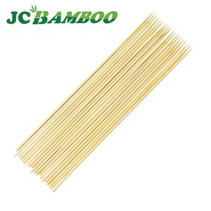 Custom Natural Bbq Eco-friendly Barbeque Opp Pack Disposable Round Art Bamboo Stick