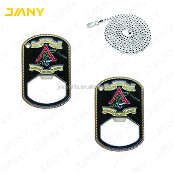 Custom Dog Tag Shaped Bottle Opener Challenge Coin, View Bottle Opener  Challenge Coin, JMNY_Challenge Coin Product Details from Dongguan Jmny  Craft &