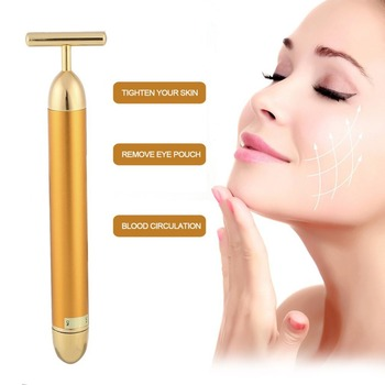 New product ideas 2018 beauty and personal care  germanium rolling facial massager 24k gold beauty bar
