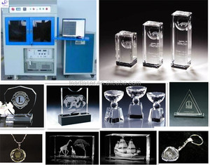Persistent Stated 2 Heads 2D-3D Crystal Photo Laser Engraving Machine