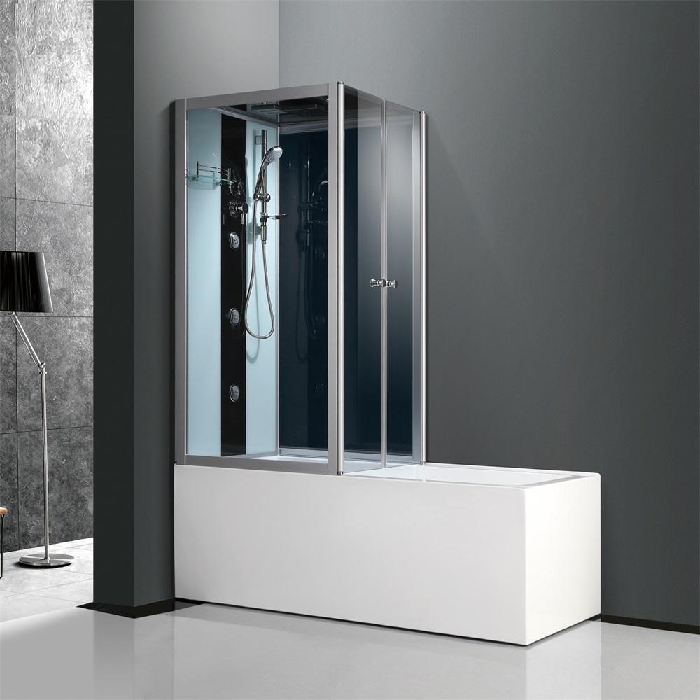 el aumento de pivote simple vidrio cubculo de bao baera cabina de ducha