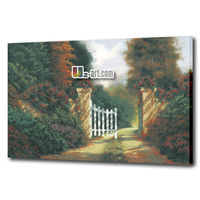 Garden scenery oil painting art canvas printing