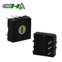 CHA factory 3x2 PCB terminal Black color Binary coded rotary switch 16 position