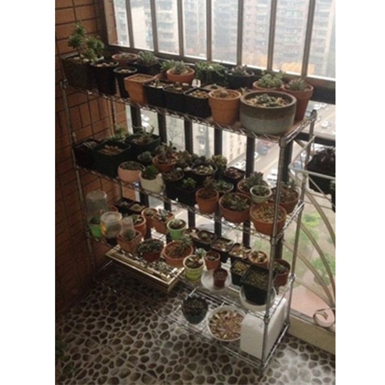 Outdoor Metal Iron Garden Plant Shelf