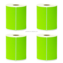 "Thermal Transfer Labels - 4"" x 6"" Fluorescent Green - 1"" Core"