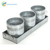 Ideal for Party wedding Country Galvanized Planter Set