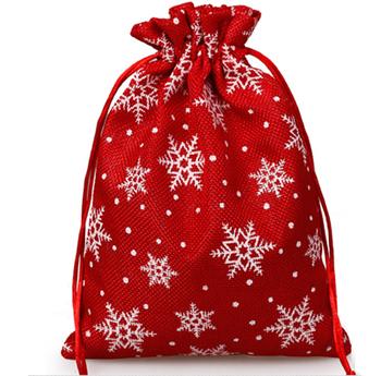 Christmas Bag Design Hemp Packaging Hessian Sack Bags Drawstring Gift Pouch