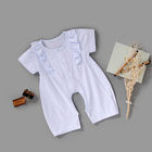 organic cotton romper baby clothing set lace rompers for baby girls clothes dress