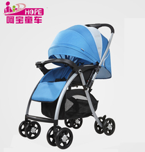 Light weight design mesh baby pram type one hand fold baby stroller wholesale