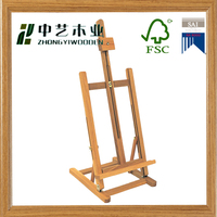 CHINA supplier Art Supply Classic Hand-Finished Wood Studio Adjustable H-Frame Artist Easel