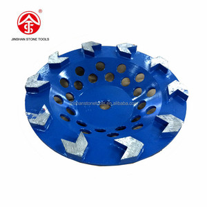 "180mm 7"" Arrow segments diamond cup grinding wheels for stone or concrete"