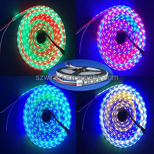 NEW addressable 5V ws2812 144 LEDs magic digital dream full color <strong>rgb</strong> Programmable Color Changing 5050 smd Led Strip