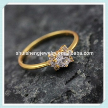 Latest Design Est Price 24k Gold Dubai Wedding Rings Jewelry