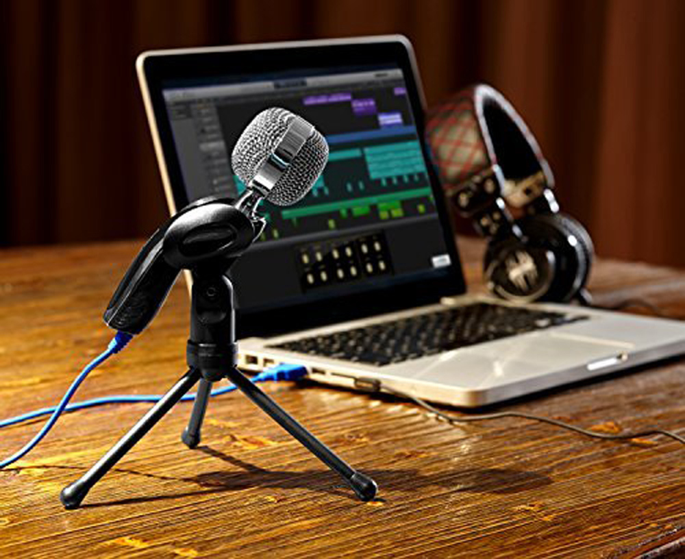 SF-922B Professional USB 3 5 mm Condenser Microphone Mic Studio Audio Sound  Recording With Stand for Computer Notebook Karaoke