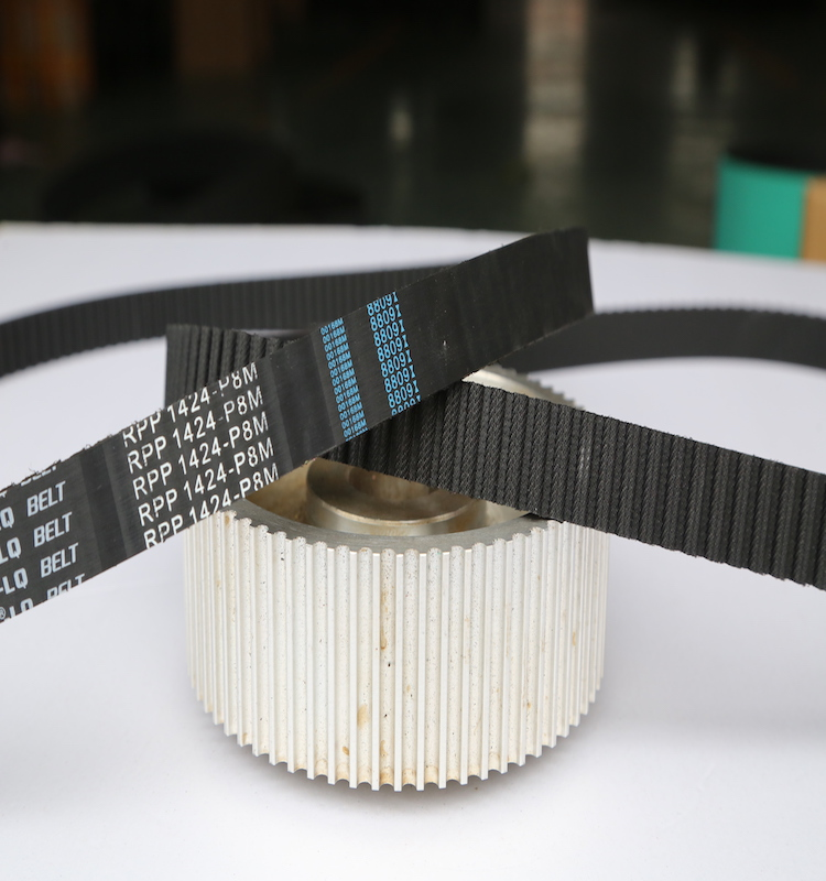 endless open PU AT10 T10 timing belt Steel wire core