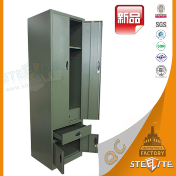 Military Steel Locker wardrobe / Metal Locker For Army / metal clothes  locker