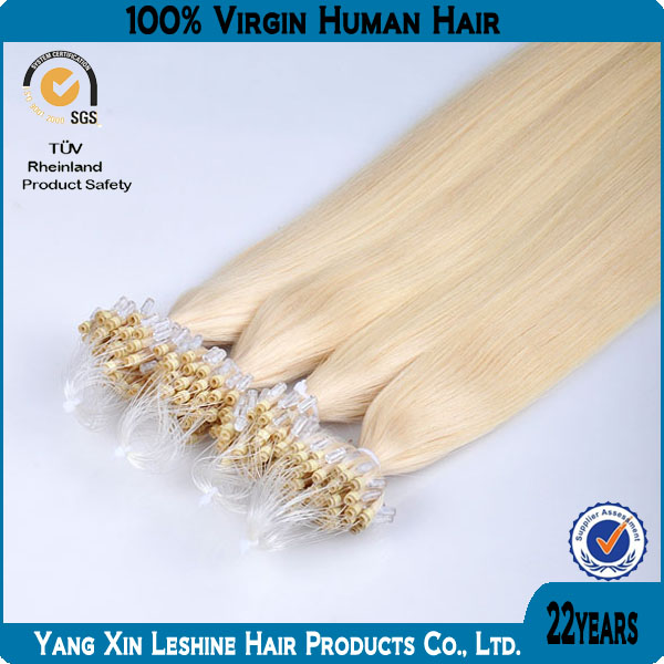 New arrival 2014 high quality remy virgin Russion cheap 30 inch Human Micro Ring Hair Extensions