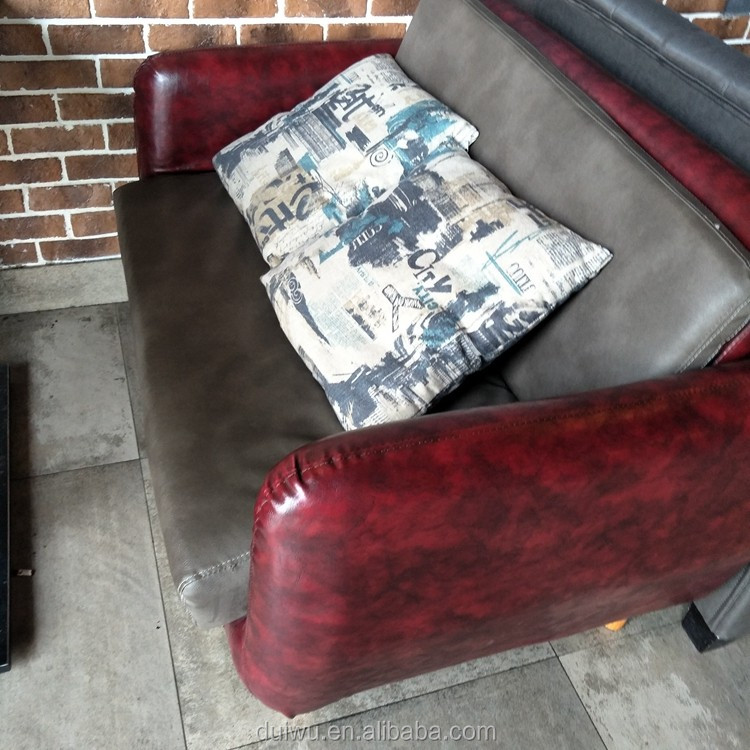 Custom made wholesale modern pu leather restaurant booth sofa design