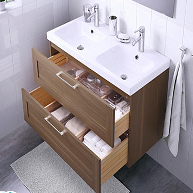 MDF PVC espejo montado en la pared melamina vanidad de baño de ...