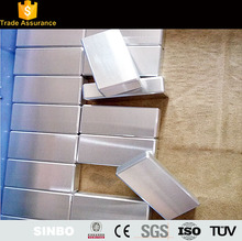 CNC milling in 6061 7075 t6 part for machinery aluminum domino blocks