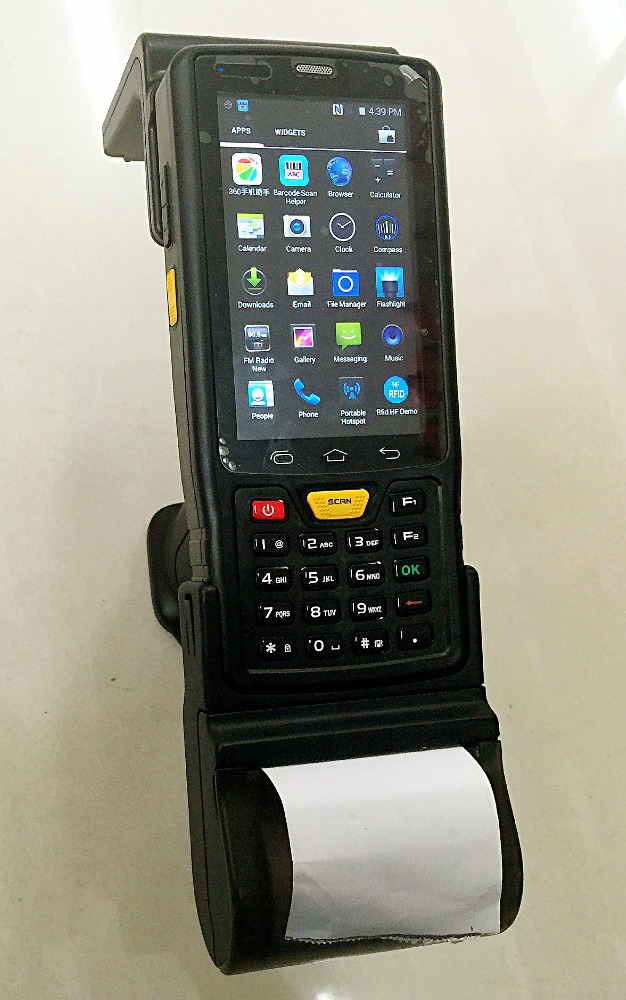 Shandong SENTER ST907V7.0 Rugged Android PDA integrate 1D 2D barcode scanner gun type