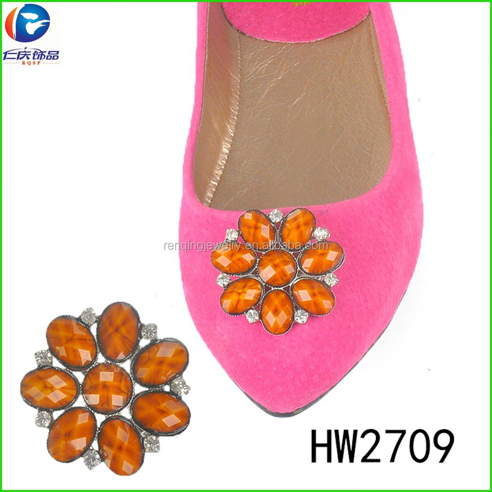 HW2709 The new summer style shoe clip decorations small resin buckles pin buckle