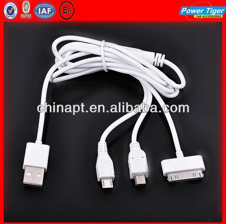 4 In 1 USB Port Retractable Cable