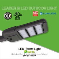 Best price popular selling in USA market 180w led street light with UL DLC approved 5 years warranty