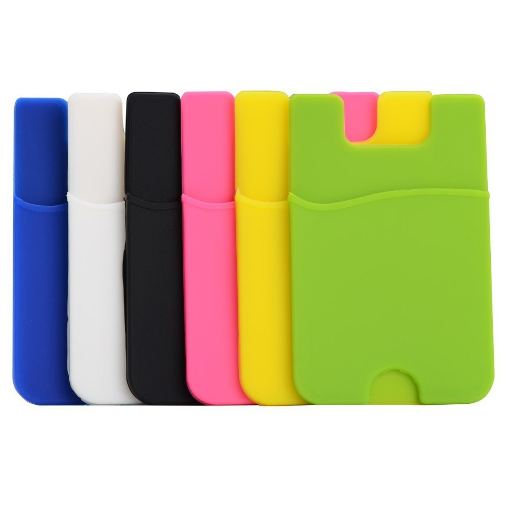 2015 Hot 3m Adhesive Silicone Smart Card Holder Mobile
