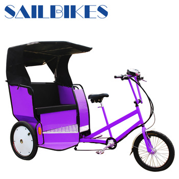 No-electric sale auto pedal rickshaw