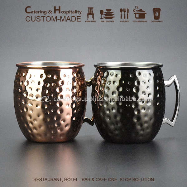 High Quality Hammerd <strong>Black</strong> Moscow Mule Mug set with Brass Handles