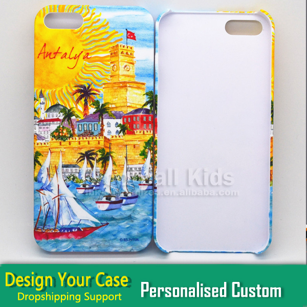 water transfer Personalized Custom Printed Photo/Design/Logo for iPhone 5/5s Cell Phone Case