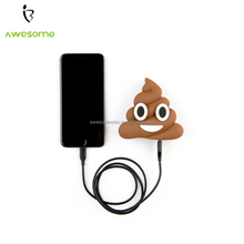 Emoji Poop 2600mAh power bank, Pink Poop power charger, Devil Emoji power bank 2600mAh