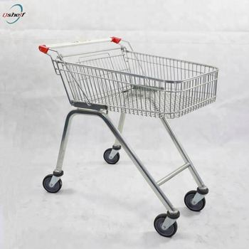 Factory powder coated australia 70L shopping trolley,shopping cart